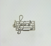Sterling Silver musical stave Charm